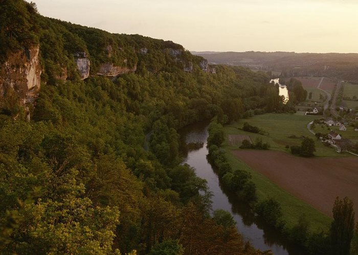 Europe Greeting Card featuring the photograph A View Of The Vezere River Valley by Kenneth Garrett