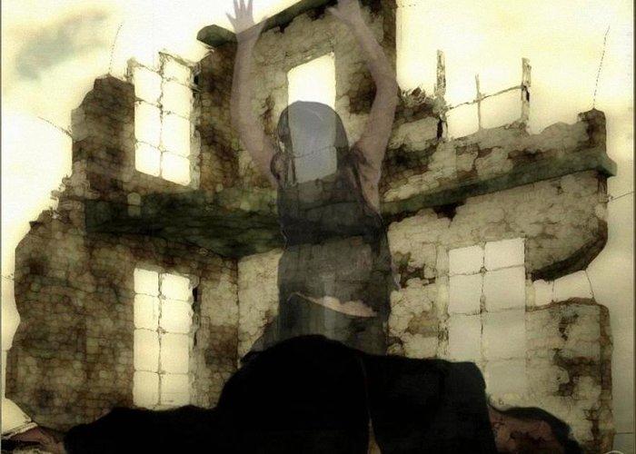 Digital Art Greeting Card featuring the digital art Abandoned House by Gun Legler