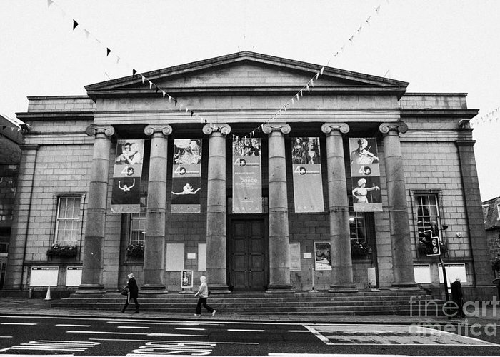 Aberdeen Greeting Card featuring the photograph Aberdeen Music Hall Formerly The Citys Assembly Rooms Union Street Scotland Uk by Joe Fox