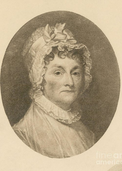 Painting Greeting Card featuring the photograph Abigail Adams by Photo Researchers