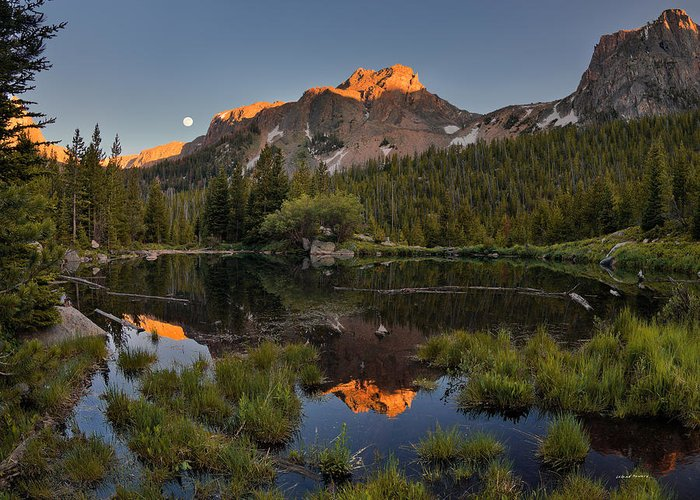 Absaroka Beartooth Wilderness Greeting Card featuring the photograph Absaroka Range Reflection by Leland D Howard