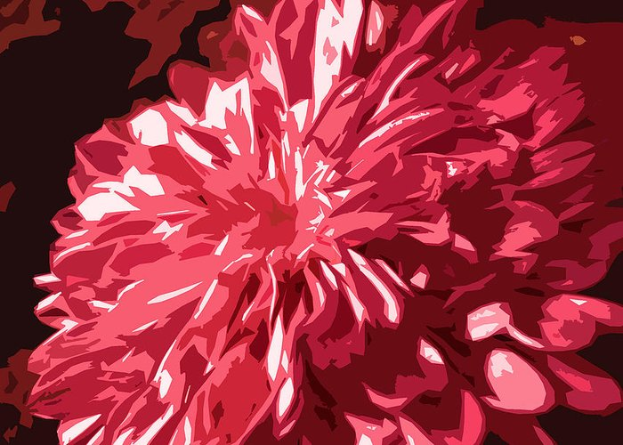 Abstract Greeting Card featuring the photograph Abstract Flowers by Sumit Mehndiratta