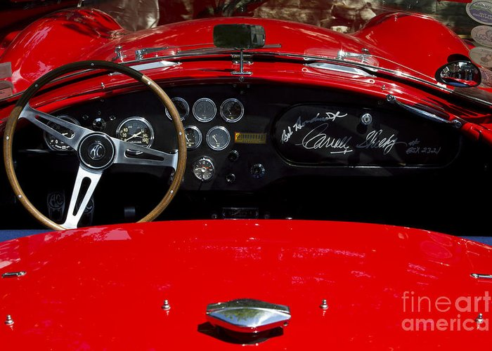 Classic Greeting Card featuring the photograph Ac Cobra by Dennis Hedberg