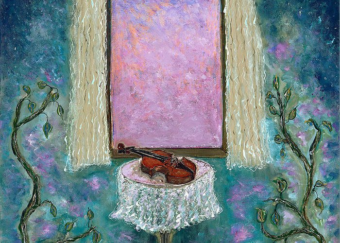 Adagio Greeting Card featuring the painting Adagio by Erika Morrison