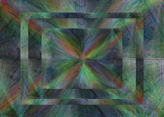 Abstract Greeting Card featuring the digital art After The Rain 9 by Tim Allen