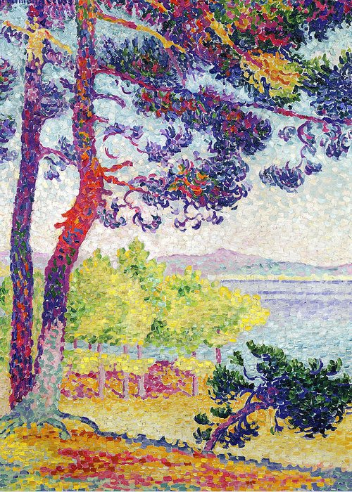 Afternoon At Pardigon Greeting Card featuring the painting Afternoon At Pardigon by Henri-Edmond Cross