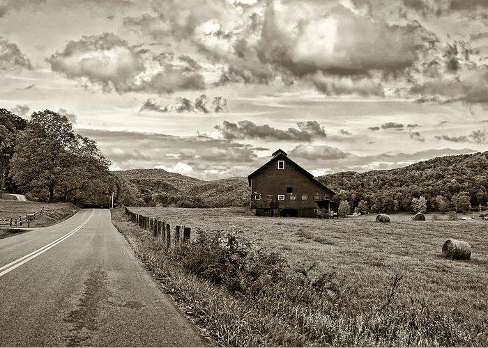 West Virginia Greeting Card featuring the photograph Ah...west Virginia Sepia by Steve Harrington