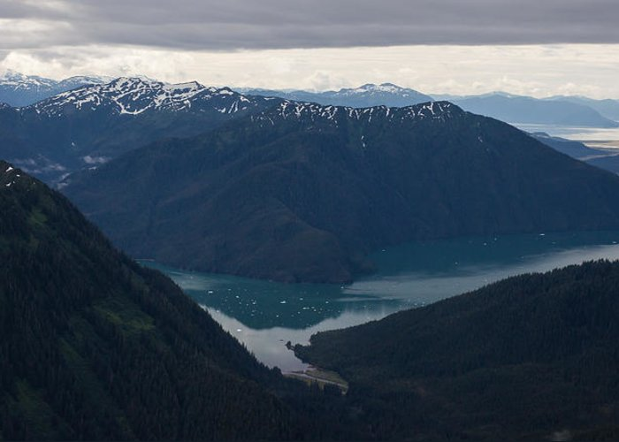 Frederick Sound Greeting Card featuring the photograph Alaska Coastal Serenity by Mike Reid
