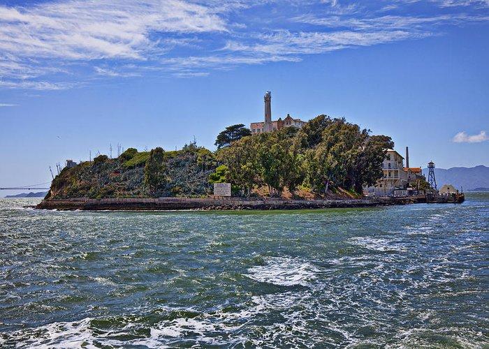 Alcatraz Island Greeting Card featuring the photograph Alcatraz Island San Francisco by Garry Gay