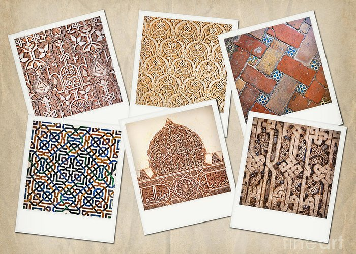 Abstract Greeting Card featuring the photograph Alhambra Textures by Jane Rix
