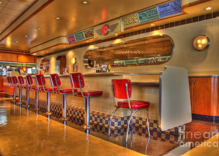 Rubys Greeting Card featuring the photograph All American Diner 2 by Bob Christopher