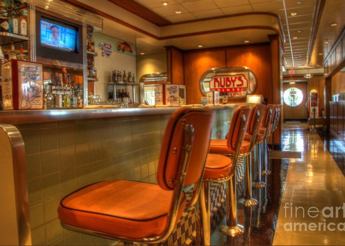Rubys Greeting Card featuring the photograph All American Diner 3 by Bob Christopher