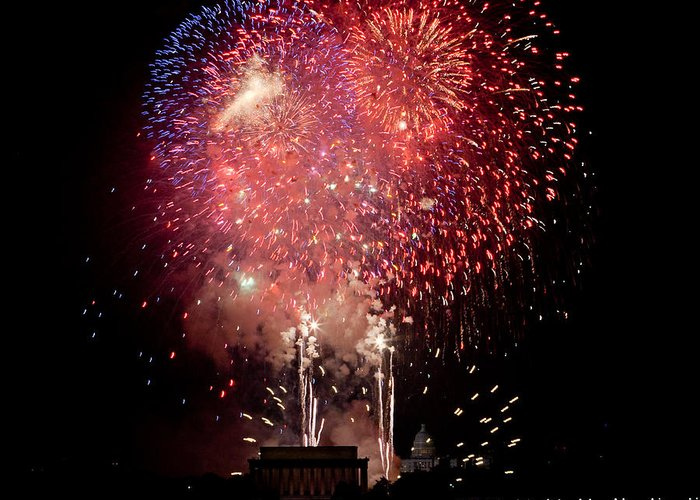4th Of July Greeting Card featuring the photograph America's Celebration by David Hahn
