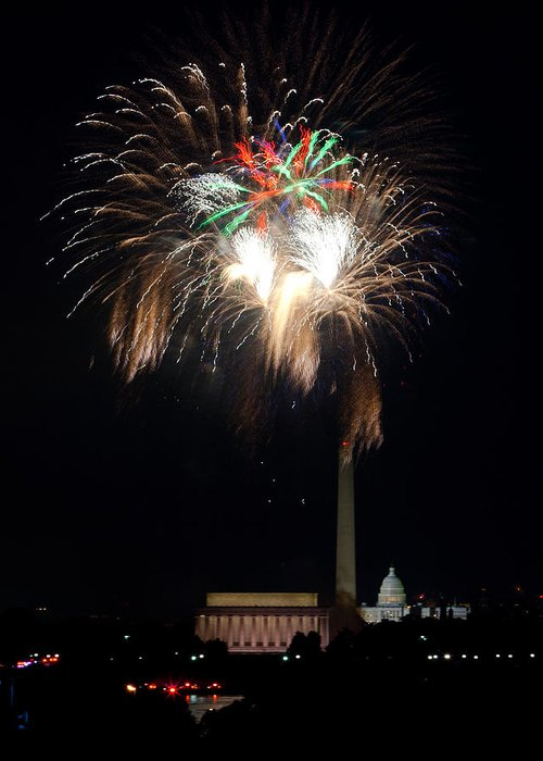 4th Of July Greeting Card featuring the photograph America's Party by David Hahn