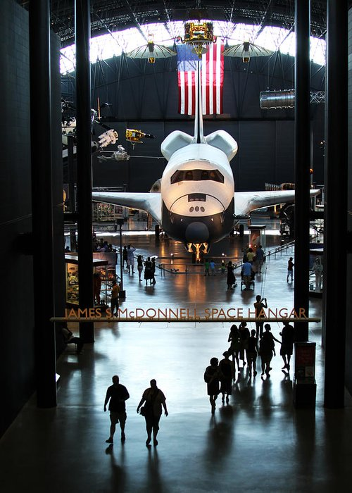 Space Shuttle Greeting Card featuring the photograph Annex by Brian M Lumley