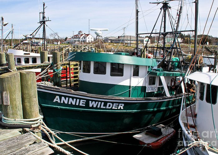Cape Cod Canal Greeting Card featuring the photograph Annie Wilder by Extrospection Art