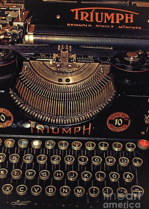 Photo Greeting Card featuring the photograph Antiquated Typewriter by Jutta Maria Pusl