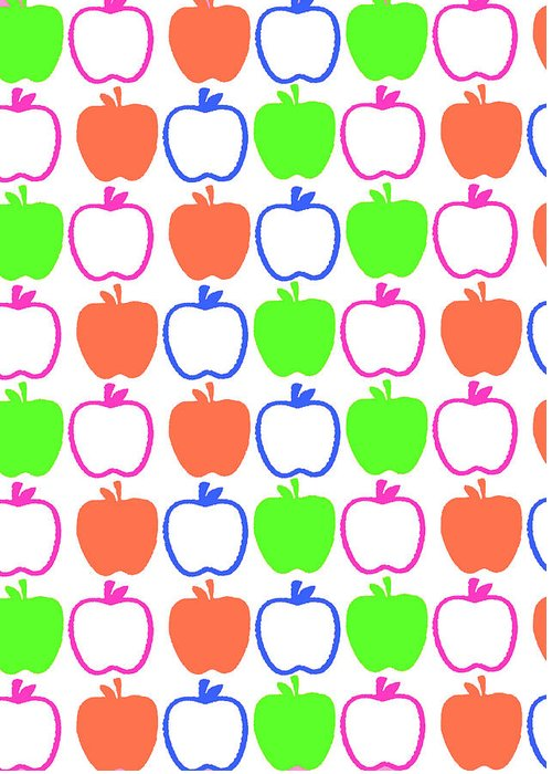 Louisa Greeting Card featuring the digital art Apples by Louisa Knight