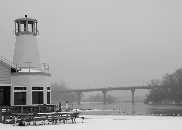 Appleton Yacht Club Greeting Card featuring the photograph Appleton Yacht Club by Joel Witmeyer