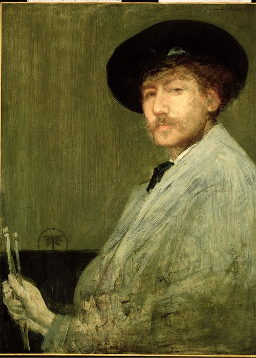 Dtr114682 Greeting Card featuring the photograph Arrangement In Grey - Portrait Of The Painter by James Abbott McNeill Whistler