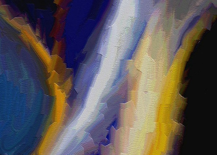 Abstract Art Greeting Card featuring the painting Atlantis by Ely Arsha