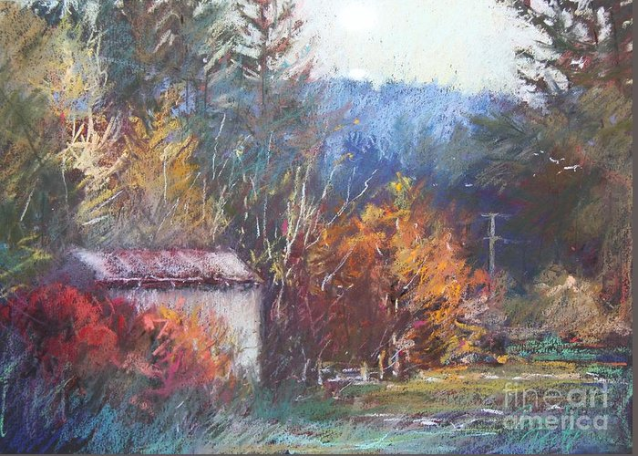 Pamela Pretty Greeting Card featuring the painting Autumn Glory by Pamela Pretty