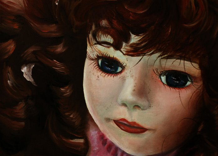 Doll Painting Greeting Card featuring the painting Autumn by Jane Autry