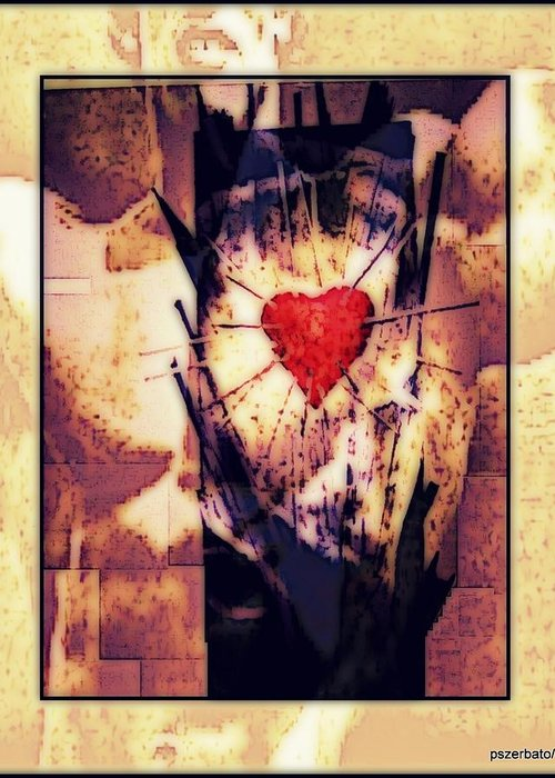 Heart Greeting Card featuring the digital art Awareness In Potential State by Paulo Zerbato