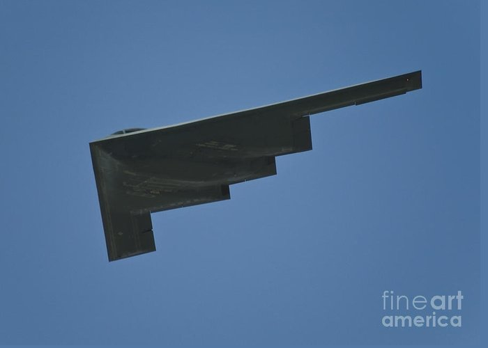 B-2 Greeting Card featuring the photograph B-2 Spirit by Tim Mulina