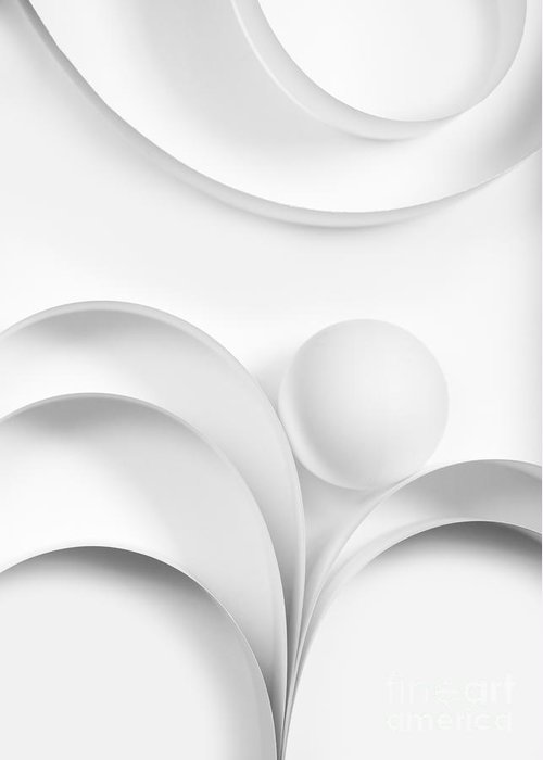 Ball Greeting Card featuring the photograph Ball And Curves 02 by Nailia Schwarz