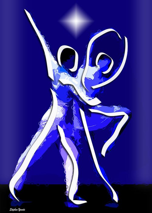 Ballet Greeting Card featuring the digital art Ballet by Stephen Younts