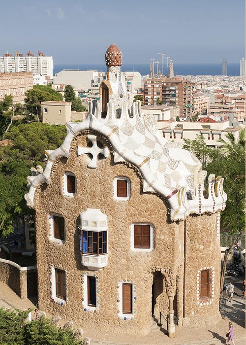 Parc Guell Greeting Card featuring the photograph Barcelona Parc Guell by Matthias Hauser