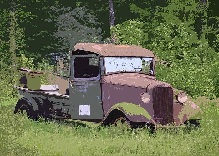 Chevy Truck Greeting Card featuring the photograph Barn Fresh Pickup by Steve McKinzie