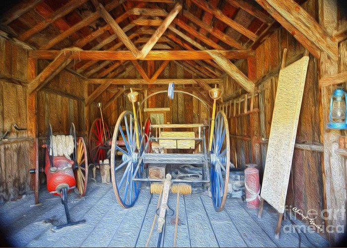 Barn Finds Greeting Card featuring the photograph Barn Treasures 2 by Cheryl Young