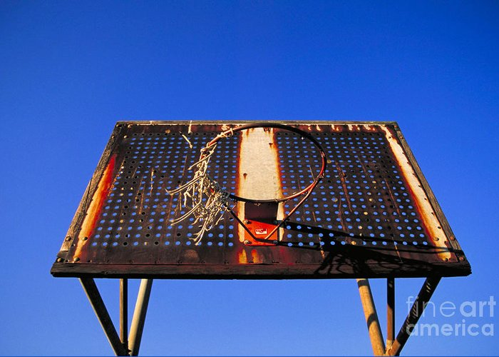 Basketball Greeting Card featuring the photograph Basketball Net by John Greim
