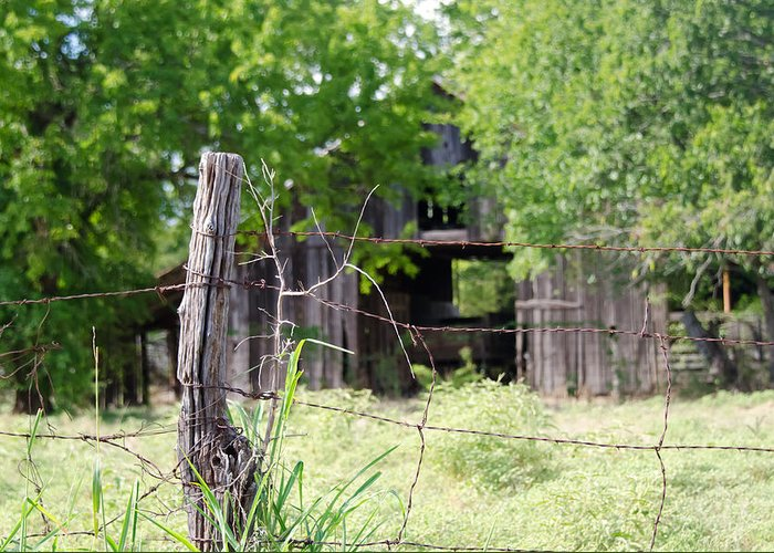 Barns Greeting Card featuring the photograph Beyond The Post by Lisa Moore
