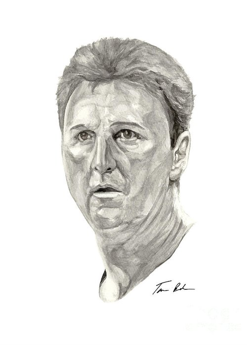 Larry Bird Greeting Card featuring the painting Bird by Tamir Barkan