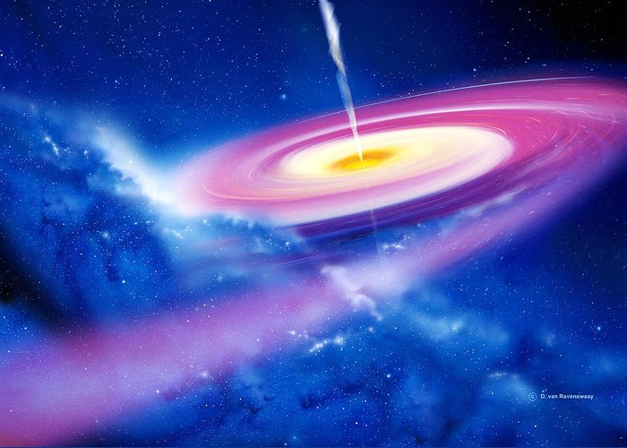 Astronomy Greeting Card featuring the photograph Black Hole by Detlev Van Ravenswaay