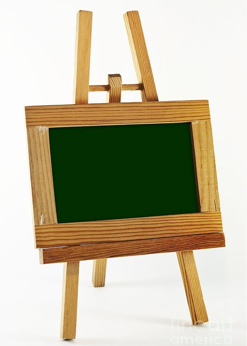 Frame Greeting Card featuring the photograph Blank Chalkboard In Wood Frame by Blink Images