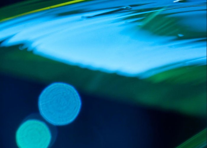 Abstract Greeting Card featuring the photograph Blue And Green Abstract by Dana Kern