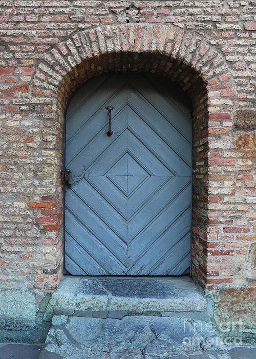 Door Greeting Card featuring the photograph Blue Door by Carol Groenen