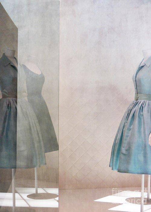 Dress Greeting Card featuring the digital art Blue Dress by Martine Roch