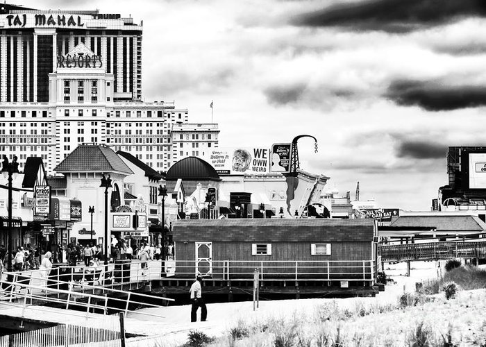 Boardwalk Casinos Greeting Card featuring the photograph Boardwalk Casinos by John Rizzuto