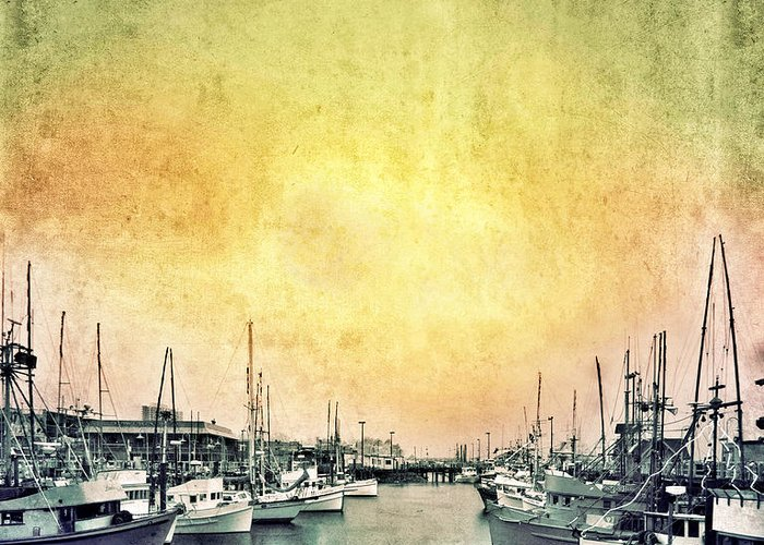 Coast Greeting Card featuring the photograph Boats In The Harbor by Jill Battaglia