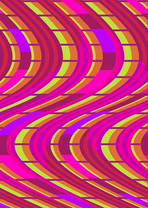 Bold Swirl (digital) By Louisa Knight (contemporary Artist) Greeting Card featuring the digital art Bold Swirl by Louisa Knight