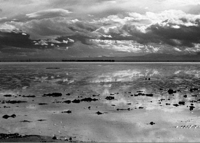 Bonneville Salt Flats Greeting Card featuring the photograph Bonneville Salt Flats Two by Isak Hanold