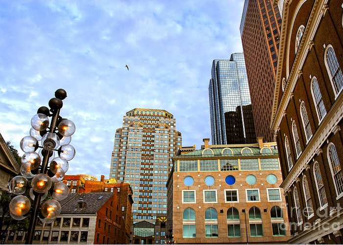 Boston Greeting Card featuring the photograph Boston Downtown by Elena Elisseeva