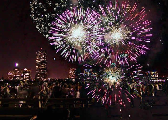 4th Of July Greeting Card featuring the photograph Boston Forth Of July by Sasha Grebenyuk