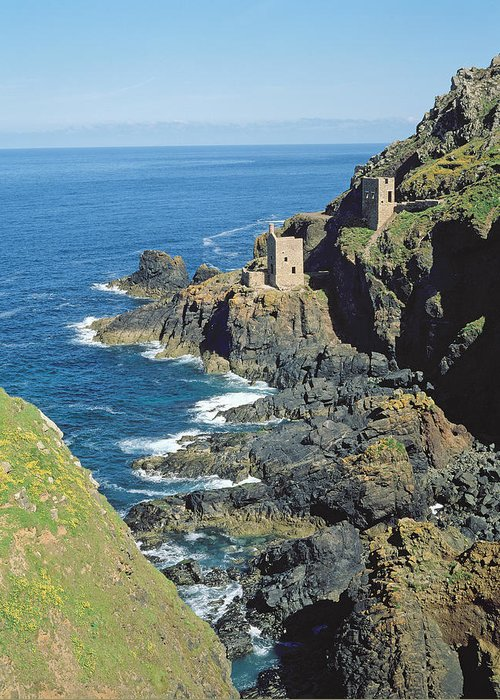 Botallack Mine (photo) Tin And Copper Mine Closed 1914; Greeting Card featuring the photograph Botallack Mine by Botallack Mine