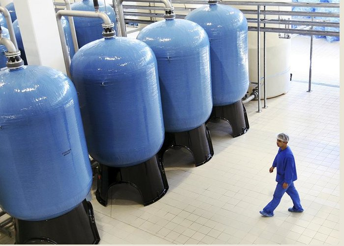 Water Greeting Card featuring the photograph Bottled Water Production by Ria Novosti